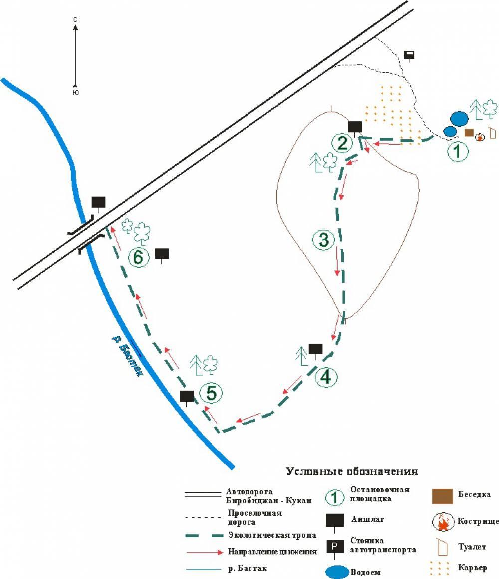 «Учебная экологическая тропа» - однодневный экскурсионный маршрут